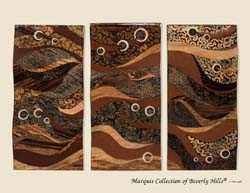 'Oceans Insight' 3-Panel Wall Art, Natural Finishes